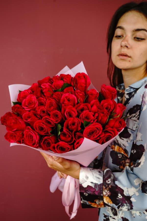 51 роза кения малиновая
