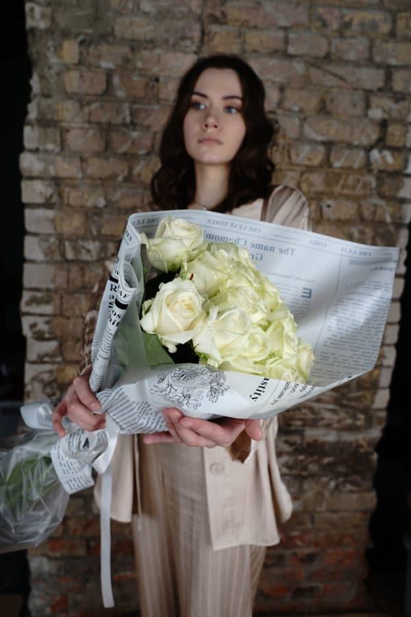 15 российская роза (Аваланч) белая