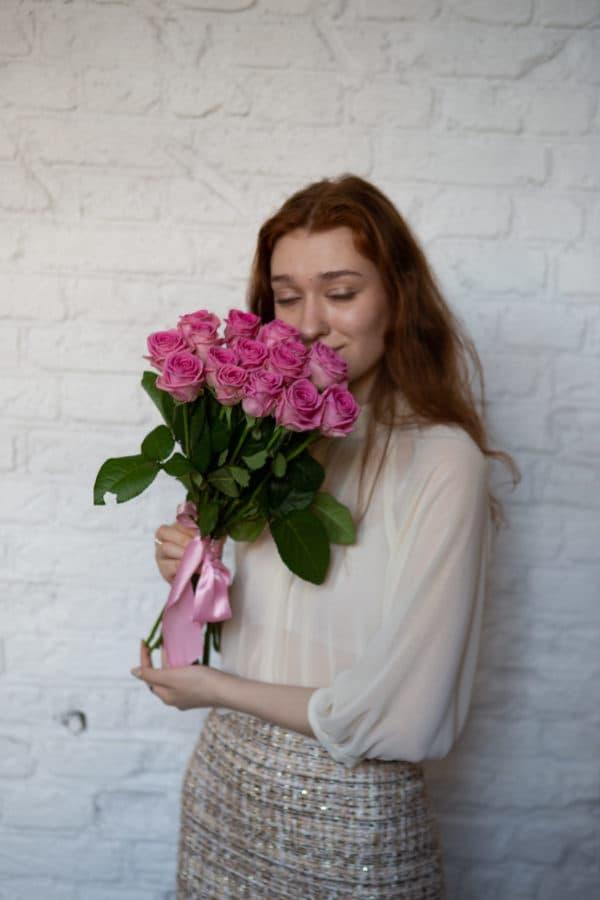 15 российская роза ( Аква ) розовая 50см