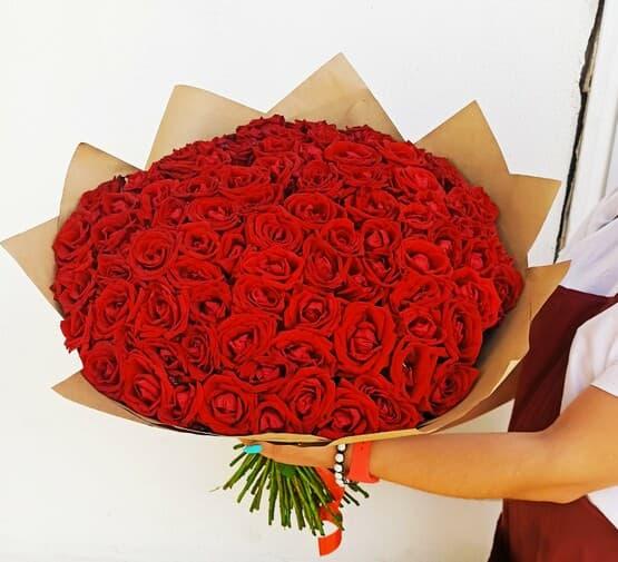 Монобукет 101 Роза