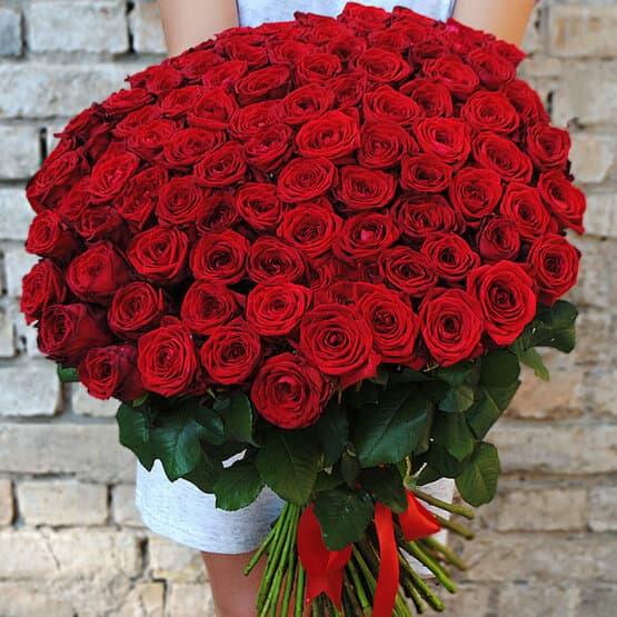 Супер акция! Букет из 101 розы