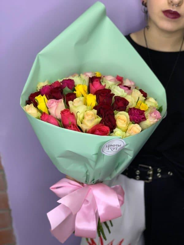 51 роза кения микс
