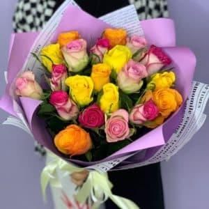 21 роза Кения – микс