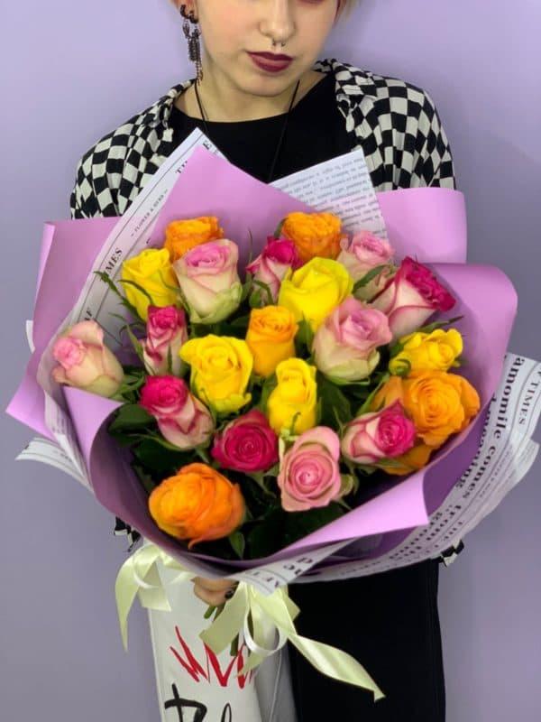 21 роза кения микс
