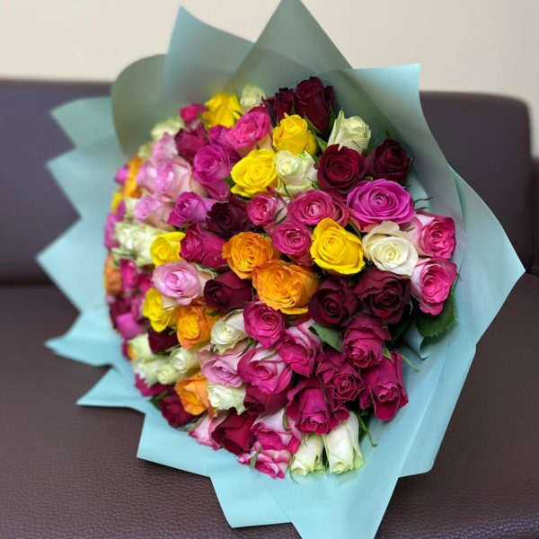 101 роза кения микс