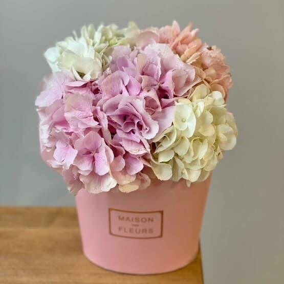 Зефирка розовая с гортензией MIX