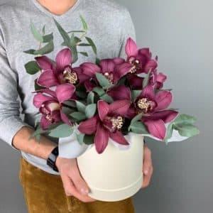Коробочка с орхидей и эвкалиптом 2.0